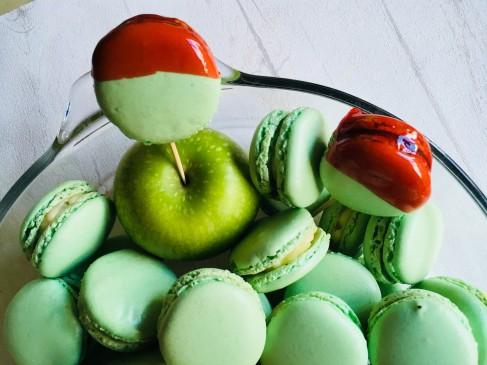 Macarons pommes verte yuzu 2
