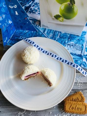Dessert coco framboise speculoos