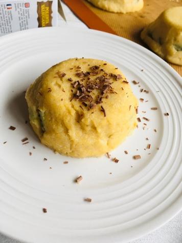 Gâteau de polenta kiwi